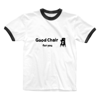 Good chair for you (ライン) Ringer T-shirts