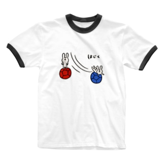 【ボッチャ】はじく Ringer T-shirts