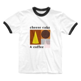 チーズケーキとコーヒー Ringer T-shirts