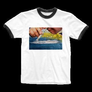 U-47700のSucks wave Ringer T-shirts