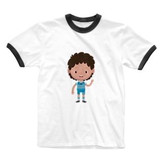 leini soccer Ringer T-shirts