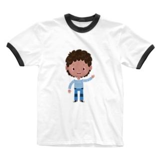 leini stripes Ringer T-shirts
