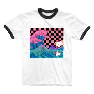 大木先生-MODEL Ringer T-shirts