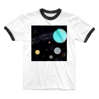 Textbook of space. Ringer T-shirts