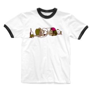 飲杉多(のみすぎた)くん Ringer T-shirts