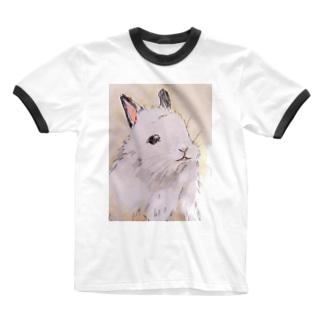 うさぎ Ringer T-shirts