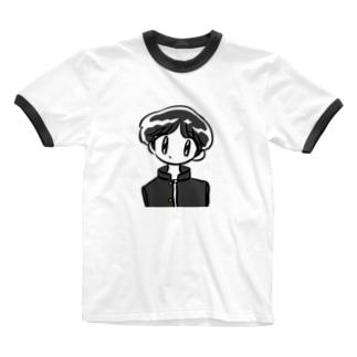 秀才くん Ringer T-shirts