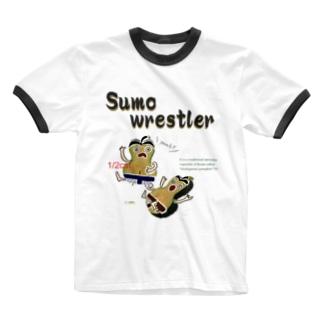 鹿ケ谷かぼちゃ【Sumo wrestler】 Ringer T-shirts
