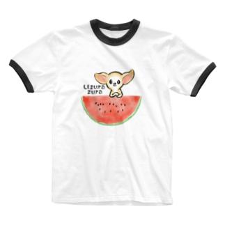 すいか🍉-うんうん、おはなしきいてあげるずら Ringer T-shirts