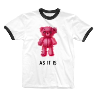 【As it is】(桃くま) Ringer T-shirts