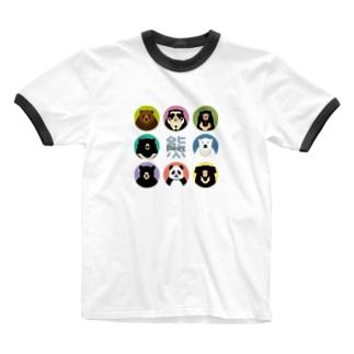 くま~ず Ringer T-shirts