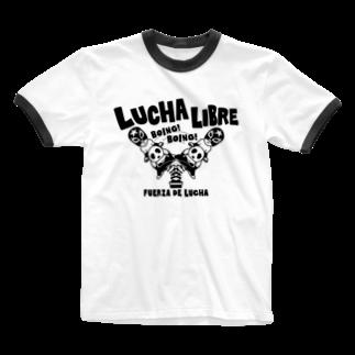 LUCHAのLUCHA LIBRE#30mono Ringer T-shirts