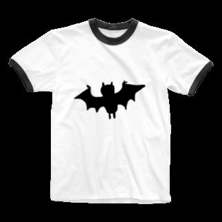 uwotomoのコウモリさん Ringer T-shirts