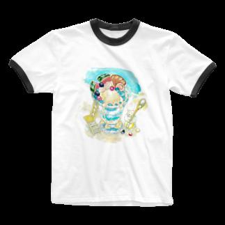 ジョニー|イラストレーターの海パフェ Ringer T-shirts