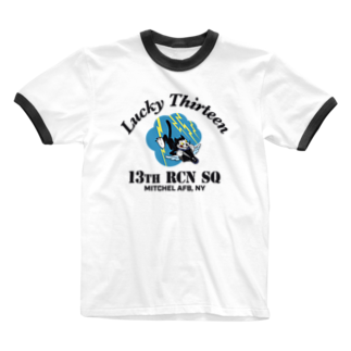 Bunny_Robber_GRPCの13th RCN SQ_BLK Ringer T-shirts