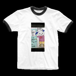 サクアンドツバミルヨシのステージの扉ツインデザイン Ringer T-shirts