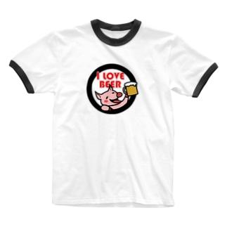 I LOVE BEER Ringer T-shirts