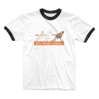 綱引き Ringer T-shirts