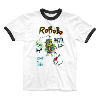 ROBOBO 「パキラロボ」 Ringer T-shirts