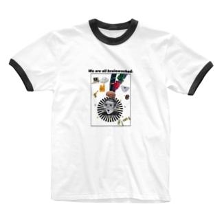 みんな洗脳されてる世界 Ringer T-shirts