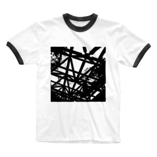 CLOUDY SKY Ringer T-shirts