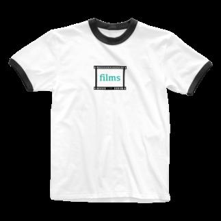 filmsのfilms LOGO Ringer T-shirts