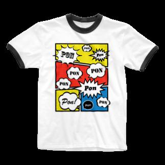 wlmのCLAIM PON Ringer T-shirts