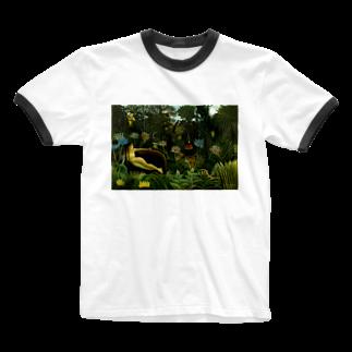 Art Baseの夢 / アンリ・ルソー(The Dream 1910) Ringer T-shirts