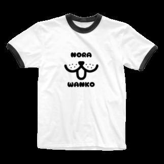 mojimojiのNORA_WANKO Ringer T-shirts