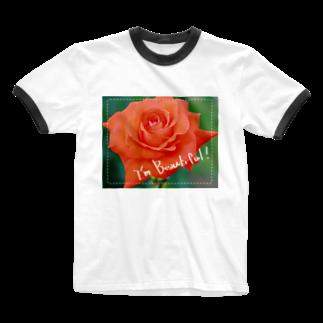 mk-paletの私は薔薇のように美しい。 Ringer T-shirts