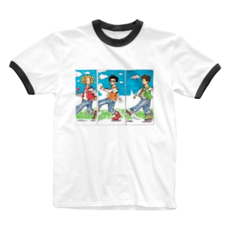 競歩ちゃう、ウォーキングや。 Ringer T-shirts