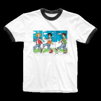 星の競歩ちゃう、ウォーキングや。 Ringer T-shirts