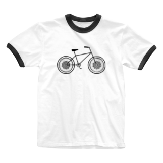 Heaの幾何学チャリ Ringer T-shirts