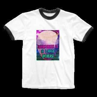 みにゃの人間の脳は大宇宙 Ringer T-shirts