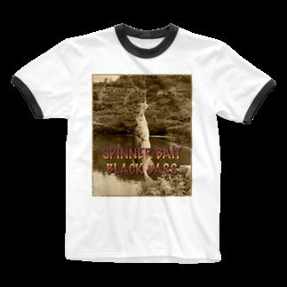 釣りのBLACK BASS Ringer T-shirts