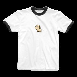 inu shopのなにか見つけたイヌ Ringer T-shirts