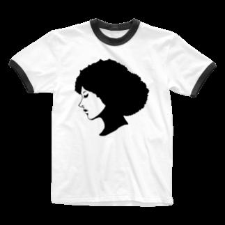 zukkyzukkyのGIRL Ringer T-shirts