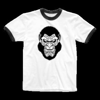 zukkyzukkyのAPE HEART Ringer T-shirts
