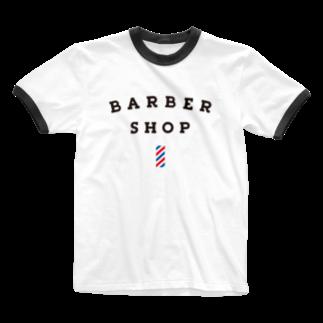 BUSCEMISのBARBER SHOP Ringer T-shirts