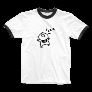 えりっくの寝る子は起こさない。 Ringer T-shirts