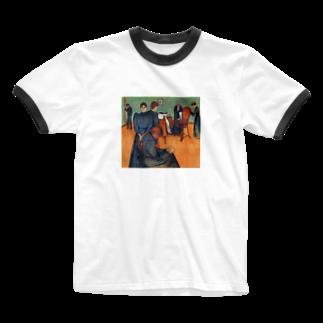 Art Baseのムンク / 病室での死 / Death in the sickroom / Edvard Munch/1893 Ringer T-shirts