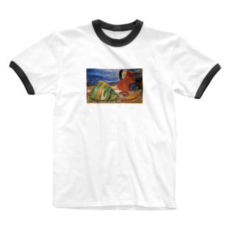 Art Baseのムンク / 憂鬱 / Melancholy / Edvard Munch / 1911 Ringer T-shirts
