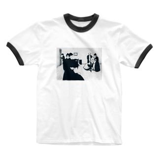 ムンク / The Death Chamber / Edvard Munch / 1896 Ringer T-shirts