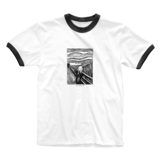 Art Baseのムンク / 叫び / The Scream / Edvard Munch / 1895 Ringer T-shirts