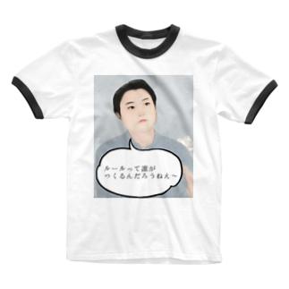 YS先生 Ringer T-shirts
