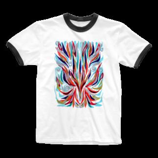 音楽工房田中(YouTuber,Music,Healing)の瀬織津姫 Ringer T-shirts