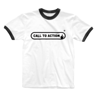 CALL TO ACTION (MONO) Ringer T-shirts
