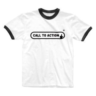 ウェブプラ屋のCALL TO ACTION (MONO) Ringer T-shirts