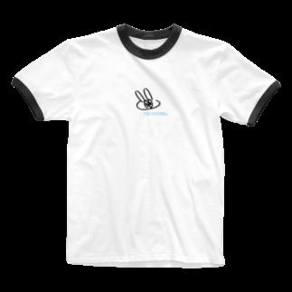 moleのdrunk うさぎ Ringer T-shirts