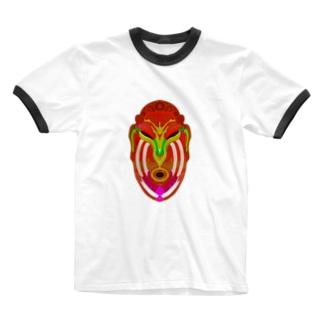 カレヤマカラ Ringer T-shirts